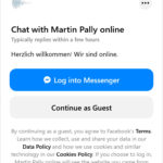 Der Facebook Messenger für Gäste geöffnet